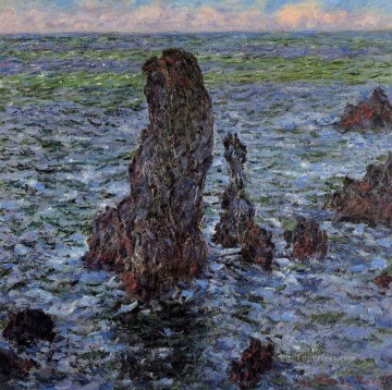 Claude Monet Painting - The Pyramids at PortCoton Claude Monet